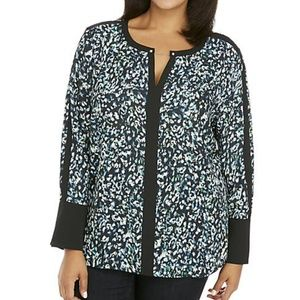 NWT The Limited Bell Sleeve Blouse w Metal Trim 3x